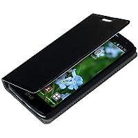 kwmobile Funda para LG G2 Mini - Flip cover Case para móvil en cuero sintético - Estilo libro plegable negro