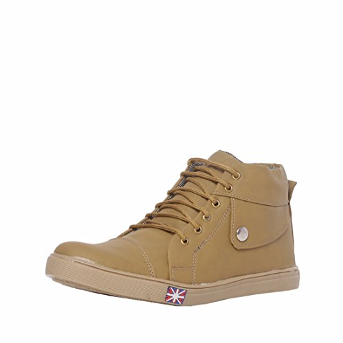 Menter High Quality Stylish Synthetic Casual Lace-up Brown Color Shoes for Men