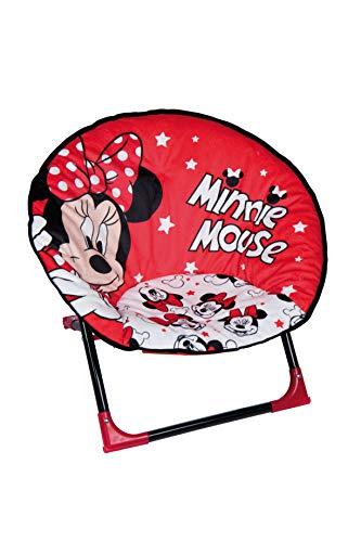 Disney, Minnie Mouse 47941-S Kinderstuhl, Metall, Rot/Weiß/Schwarz, Einheitsgröße