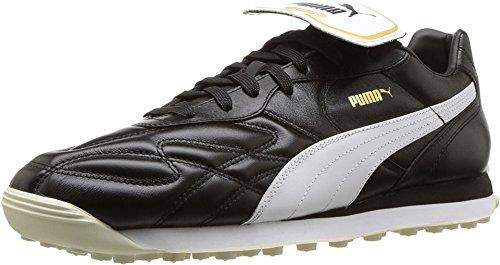 PUMA Men's King Avanti Premium Puma Black/Puma White/Whisper White/Puma Team Gold 12 D US D (M) -