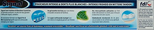Signal Dentifrice Soin Fraîcheur & Blancheur Crystal Gel 75ml - Lot de 3