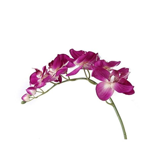 Asien 1 x Planta de Flor Artificial de la orquídea de Mariposa Decoración Fucsia