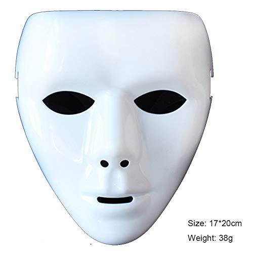 AINI Fawkes Mask Hacker Anonymous V wie Vendetta Halloween Kostüm Erwachsene Kostümspiel mit Gummiband, Horror Prop Gesichtsmaske-3 (V Für Vendetta Kostüm Perücke)