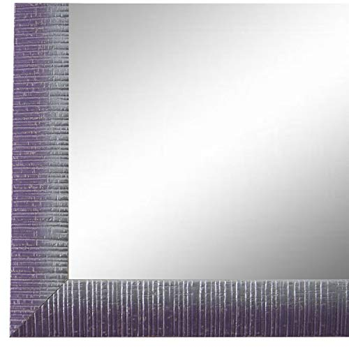 Online Galerie Bingold Spiegel Wandspiegel Lila Violett Silber 40 x 50 cm - Modern, Vintage, Shabby - Alle Größen - Made in Germany - AM - Sorrento - Sorrento Fall