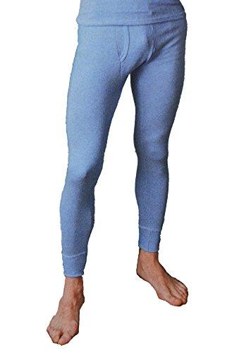 Lange Unterhose, Lange Männer, Funktionsunterwäsche, Thermowäsche, atmungsaktiv, blau/weiß gestreift, Grössen 5 bis 12 1 Stück