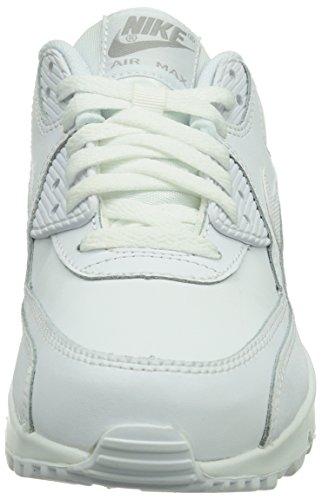 Nike Air Max 90 Gs 307793 Unisex-Kinder Low-Top Sneaker Weiß (Weiß)