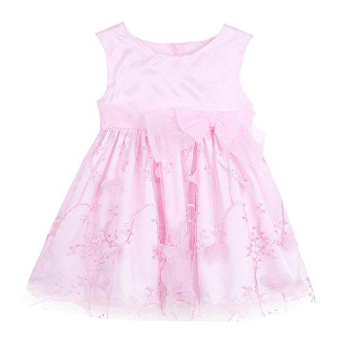 CHICTRY Baby Mädchen Prinzessin Kleid Blumenmädchen Kleid Festkleid Taufkleid Kleinkind festlich...