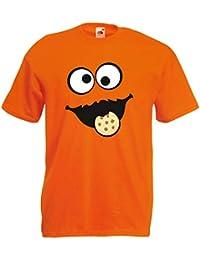 c68e4dd60a Shirt-Panda Herren Unisex T-Shirt Keksmonster Krümelmonster Gruppen Kostüm  Karneval Fasching…