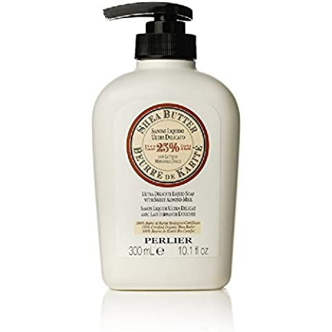 Perlier Shea Butter with Sweet Almond Milk Liquid Hand Soap