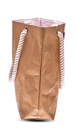 lila Tulpe - Shopper Holly - hochwertige Damen Handtasche / Schultertasche / Einkaufstasche aus waschbaren Papier mit Lederoptik / veganes Leder / leicht, reißfest und wasserbeständig - 3