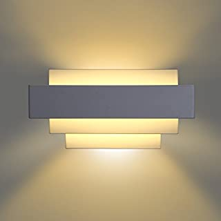 Albrillo LED Up and Down Wall Lights Bedroom Wall Lamps 10W, Warm White, 800 Lumen for Hallway, Bedroom