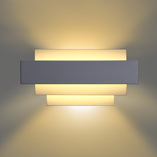 Unimall-LED-Wall-Light-Modern-Wall-Sconces-Lighting-Curved-White-Perfect-for-Living-Room-Bedroom-Lamps-LED-Night-Light-Warm-White-Light-Bulb-Include
