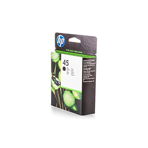 Original Tinte kompatibel zu HP Color Copier 290, 45, 45BK, 45BLACK, NO45, NO45BK, NO45BLACK 51645AE 51645AEABB 51645AEABD 51645AEABF, Premium Drucker-Patrone, Schwarz, 930 Seiten, 42 ml