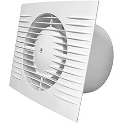 """Extractor de baño 100mm/4""""con ventilador de temporizador y sensor de humedad con higrostato y retraso D100H"""
