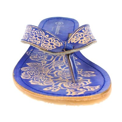 Savannah Zehensteg-sandale Ethno F0374 Bleu Blu (blu)