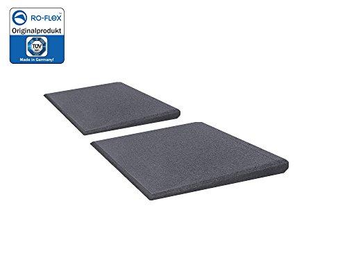 Türschwellenrampen Set Excellent 250/25 mm hoch aus Gummigranulat hochverdichtet (grau)