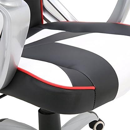 WOLTU Racing Silla, Gaming Silla de Escritorio Silla Oficina Silla de Ordenador Silla giratoria de Oficina Ajustable Silla Azul BS13bl