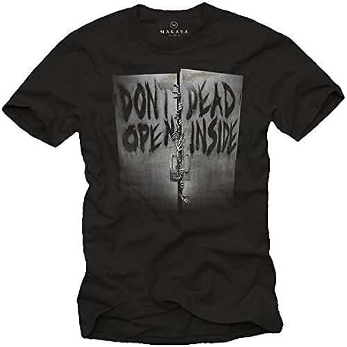 dia del orgullo friki Don´t Open Dead Inside - Camiseta Negra Hombre