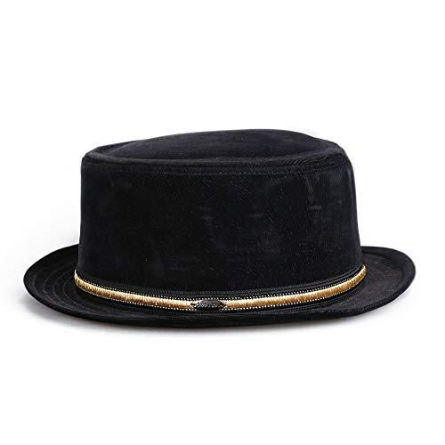 Hut Schwarzen Kostüm Floppy - kyprx Brief Sonnenschutzkappe Kostüm Gentleman elegant Jazz Hut schwarz