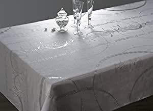 Nappe Strass - Entretien Facile Perle - taille : Rectangle 150x300 cm