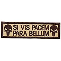 Cobra Tactical Solutions Besticktes Patch SI Vis Pacem, para Bellum Punisher with Hook & Loop for Cosplay/Airsoft / Paintball