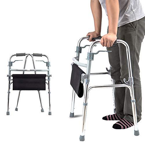 WY-WHEEL Andadores para Ancianos de Aluminio Plegable - Andador Plegable con Asiento...