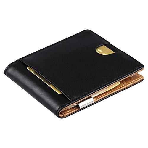Geldbörse mit Geldklammer und Münzfach aus Echt-Leder - Geldbeutel, Kompakte Börse, Brieftasche...