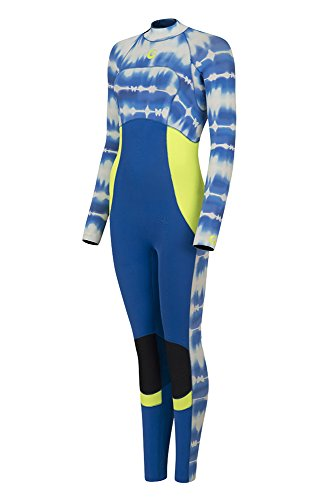 GlideSoul Frauen \'S TIE & DYE Collection 3mm Overall Reißverschluss hinten L Imprimé Bleu Tie&Dye/Citron/Bleu Marine