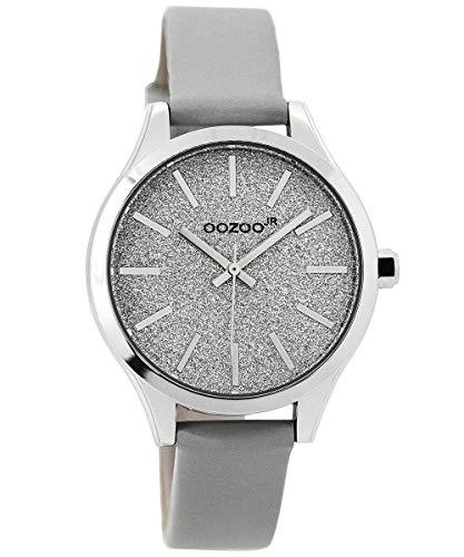 Oozoo Armbanduhr für Mädchen und Damen Grau 35 mm JR295