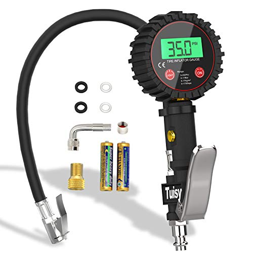 Tuisy manometro digitale - 250 psi manometri pressione gomme gonfiatore pneumatici per auto moto bicicletta suv