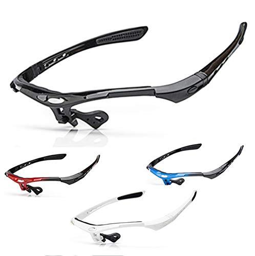 Abellale Sonnenbrille Rahmen für Männer Frauen Fahrrad Brille Outdoor Reiten Schnellspanner Sonnenbrille Rahmen Weiß