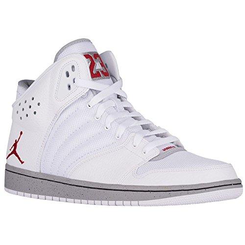 Nike Herren Jordan 1 Flight 4 Kinderwagen Basketballschuhe white gym red wolf grey black 103
