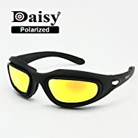 Marksman shooting/occhiali di sicurezza 5colori intercambiabili infrangibile lenti UV400 22dIkYo0M