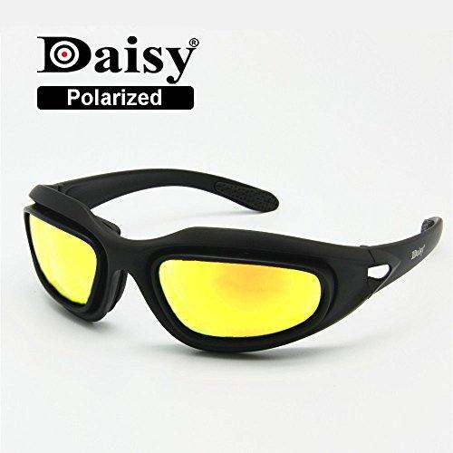 EnzoDate Daisy C5 ejército gafas polarizado Kit de lente 4, juego de guerra de militares gafas de...