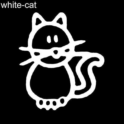 YSHtanj Externe Dekoration Aufkleber Lustige Familienmitglieder Figur Haustier Hund Katze Auto Aufkleber Aufkleber für Fenster Tür - Schwarzer Vater White Cat*