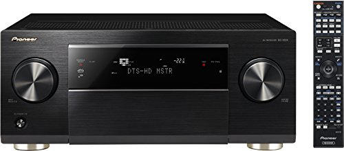 Pioneer SC-1224-K 7.2 Netzwerk AV-Receiver (200 Watt pro Kanal, Class-D-Endstufen, W-Lan und Bluetooth, App Steuerung, Airplay, DLNA, Internetradio, ESS Sabre D/A-Wandler, Gapless Wiedergabe, 3 Zonen, 4K Ultra HD Video Scaler) schwarz