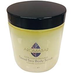 Lavendel & Zitrone Salz Aus Dem Toten Meer Hand & Körper-peeling 300g mit reine ätherische Öle 100% Natur Voller mineralien und nährstoffe für Herren oder Damen