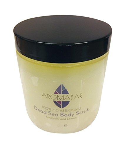 Lavendel & Zitrone Salz Aus Dem Toten Meer Hand & Körper-peeling 300g mit reine ätherische Öle 100% Natur Voller mineralien und nährstoffe für Herren oder Damen -