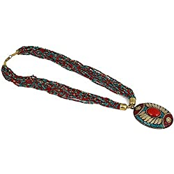 Aradhya Pendant Multi Colour Stylish Beads Necklace for Girls and Women