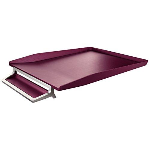 Leitz vaschetta portacorrispondenza, ABS e zinco, Formato A4, Rosso granato, Style, 52560028