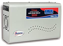 SNOWBIRD Microtek EM4170+ Voltage Stabilizer Upto 1.5 Ton AC (170-270v), Grey