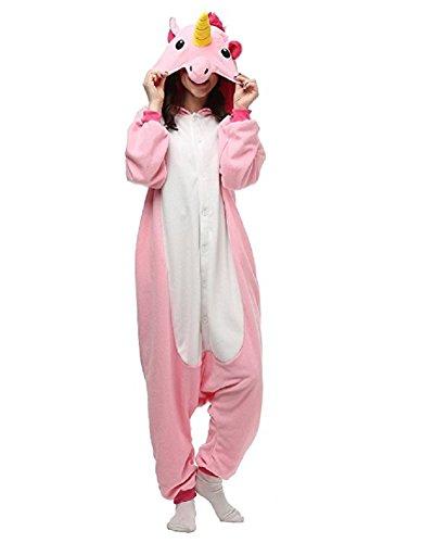 Chicone Unicorn Kigurumi Pijamas Unisexo Adulto Traje Disfraz Animal Adulto Animal Pyjamas Traje Disfraz de Halloween