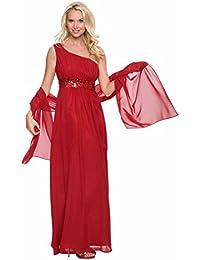 Stola aus Chiffon Schal für Abendkleid Maße ca. 45 x 180 verschiedene Farben