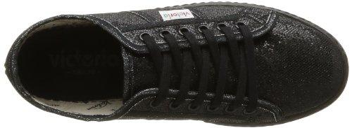 Victoria Blucher Glitter, Boots compensées femme Noir (Negro)