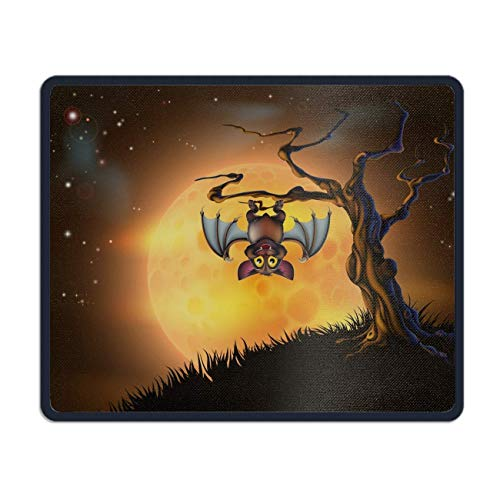 meniony Mouse Pad,Holiday Halloween Angel Wings Jack-o-Lantern Printed Mousepad Non Slip Rubber Mouse pad Gaming Mouse Pad