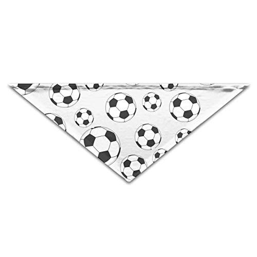 Hectwya Pet Bandanas Cute Soccer FootballDog Geburtstag Pet Bandana Halsbänder für Hunde und Katzen