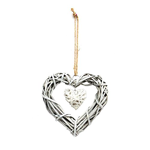 Rattan Grapevine Twig Heart Shaped Craftwork Decoration Wall Hanging