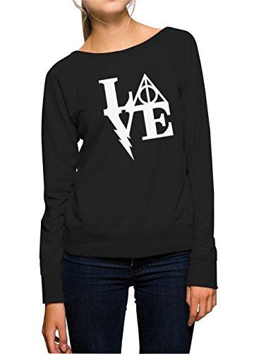 Certified Freak Harry Love Sweater Girls Black S