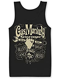 Officially Licensed Merchandise Gas Monkey Garage Wrench Label Tank Top Vest