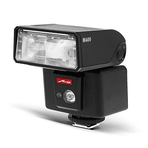 Metz mecablitz M400 für Nikon | Ultra-kompakter & leistungsstarker Systemblitz mit Leitzahl 40 | Made in Germany, OLED-Display, TTL, HSS | Ideales Zubehör für kleine DSLRs & spiegellose Kameras